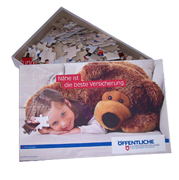 Verpackung f�r Puzzles